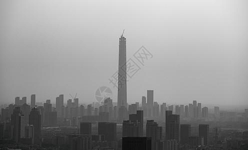 环境污染雾霾下的城市图片