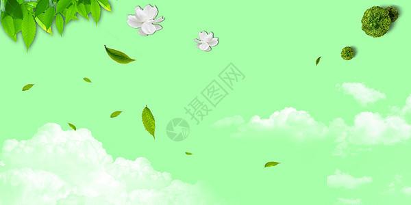 绿色banner海报背景图片