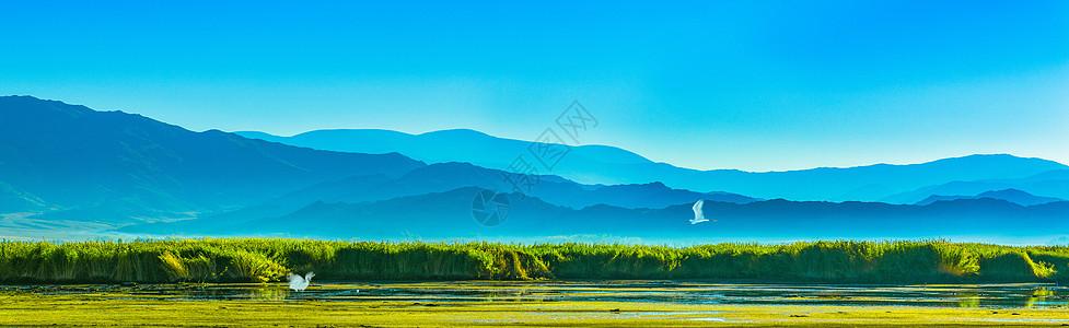 山水湿地风光图片