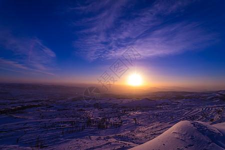 雪乡的日出图片