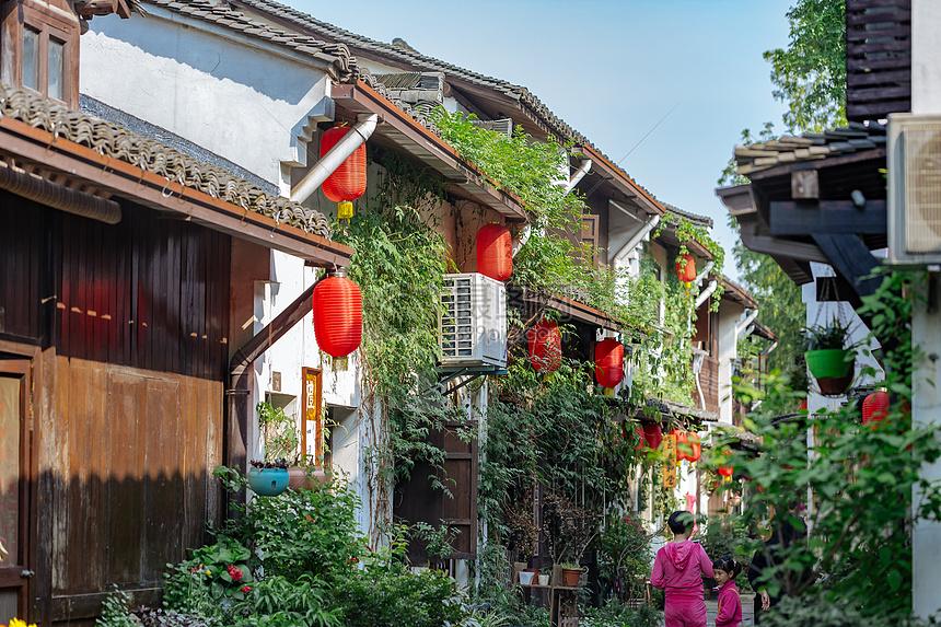 建筑文艺户外休闲杭州小河直街风景图片杭州小河直街风景图片免费下载