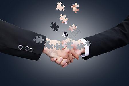 创意商务合作握手图片图片
