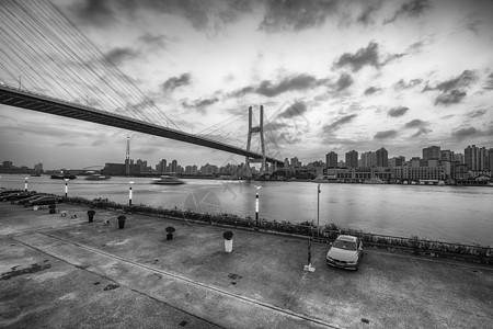 南浦大桥夜景拍摄图片