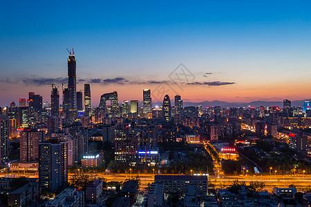 北京城市风光国贸CBD夜景图片