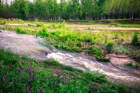 西安长安区潏河图片