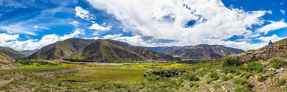 西藏蓝天白云图片