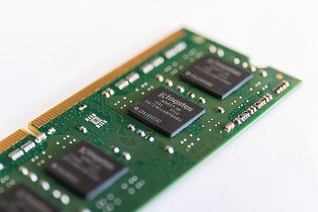 笔记本电脑内存微距摄影图片