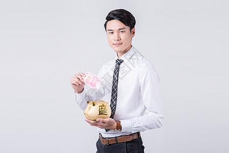 金猪存钱罐理财产品推销人员图片