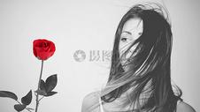 玫瑰女孩图片