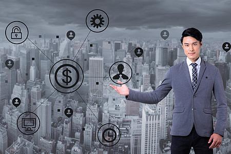 大气商业灰色背景图片