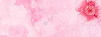 粉红色桃花banner背景图片