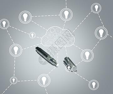 创意网络云端服务图片图片
