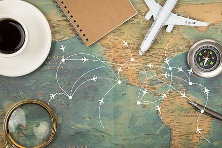 旅行航线图片