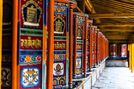 藏传佛教转经图片