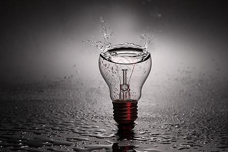 水能源电能源灯泡雨水幻想创意设计图片