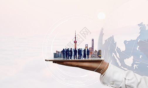 城市商务科技图片