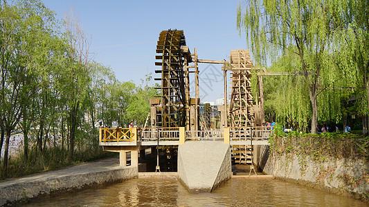 兰州水车园的水车图片