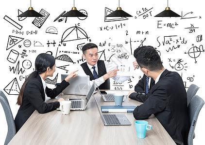 商务人士讨论开会图片