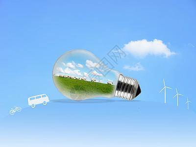 环保新能源蓝色背景图片