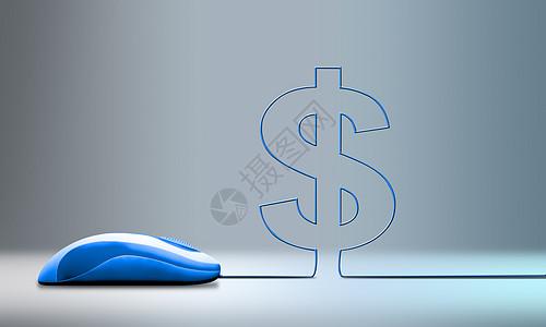 鼠标关联的金钱图片