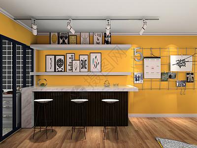 重装饰轻装修-1室小户型(餐厅)图片