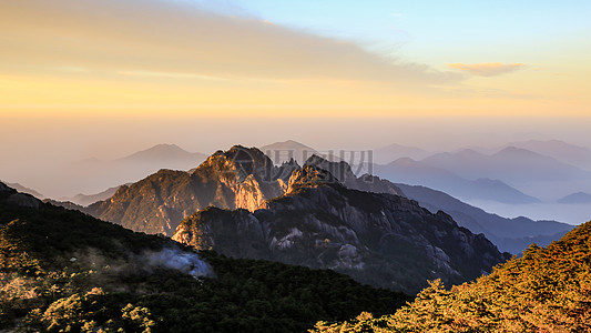 黄山 一览众山小图片