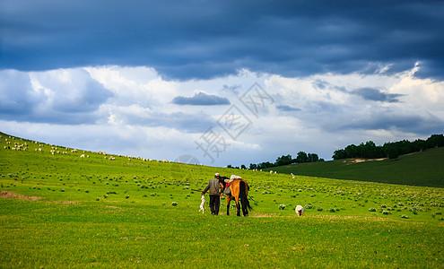 大草原上的牧羊人图片