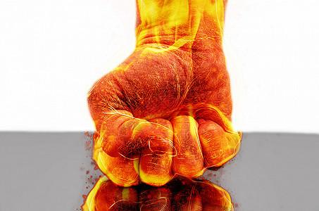 火焰拳头图片