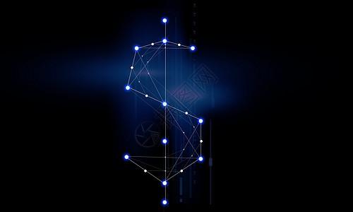 金融科技线条网络图片