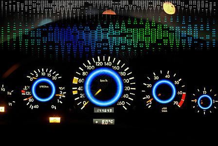 汽车表盘科技感图片