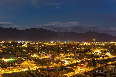 丽江大研古城的夜景图片