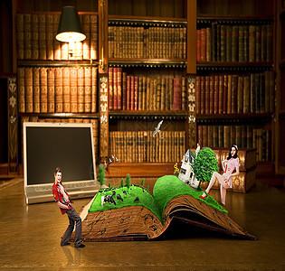 书房中的魔幻世界图片