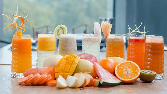 夏天水果饮料图片