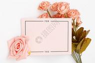 花与信封图片
