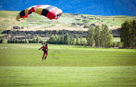 降落伞极限运动 图片