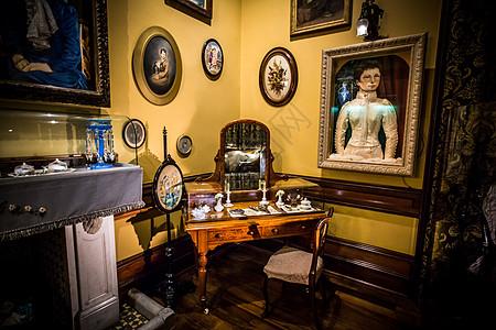 拉纳克城堡化妆台一角图片