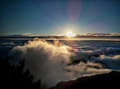 泰山清晨云海日出图片