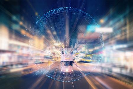 渲染科技感的纽约街头图片