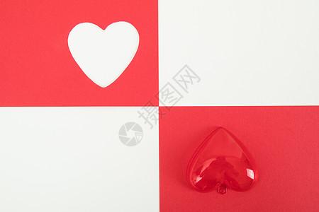 520情人节撞色拼接背景素材图片