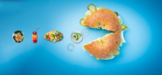 创意美食海报图片