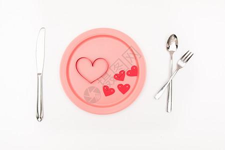 刀叉餐盘创意摄影图片
