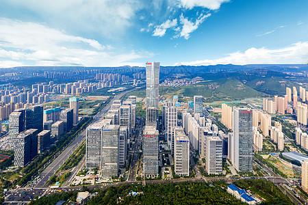 千佛山俯瞰济南市图片