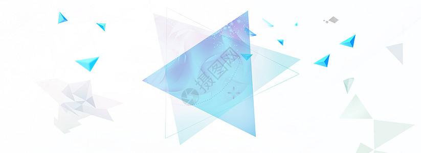 简约几何体banner背景图片