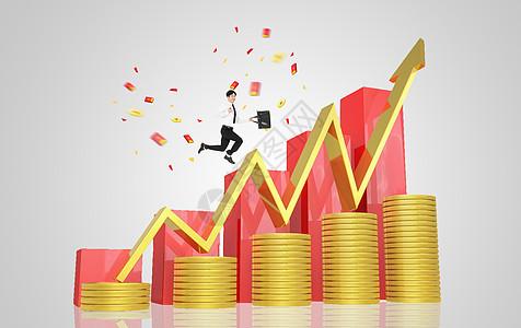 股票增长图片