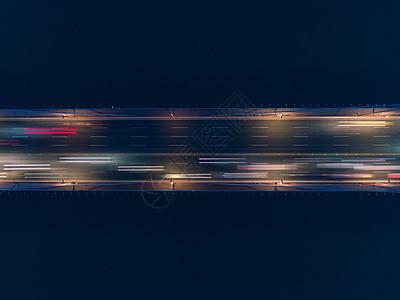 上海夜景桥梁车流虚化图片