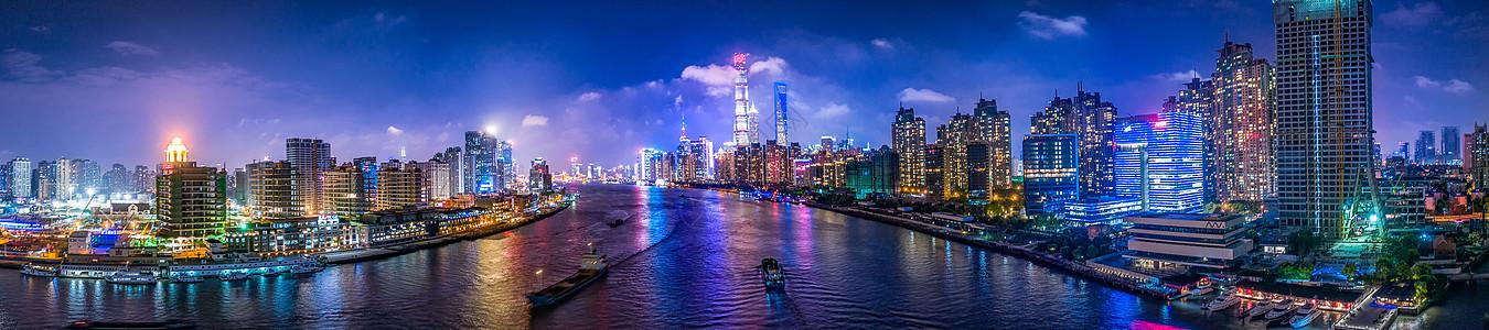 上海的城市夜景高楼大厦图片