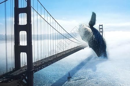 跃出水面的鲸鱼图片