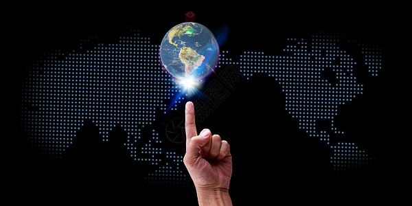 地球banner海报背景图片