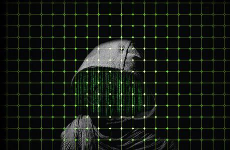 网络病毒攻击创意背景图片