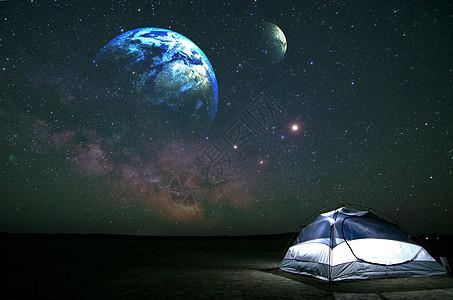 夜空中的星球图片